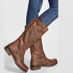Frye Veronica Brown Leather Slouch boots_8